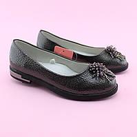 Туфли для девочки Серебро тм Том.М размер 32,33,34,35,36,37, фото 1