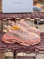 Женские кроссовки Balenciaga Triple S Clear Sole Pink