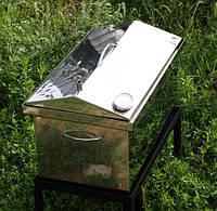Коптильня нержавійка + термометр 1.5 мм 520х310х280 жаростійкий Дача, фото 1