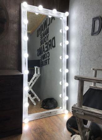 Деревянное зеркало в стиле LOFT (150 см) (Mirror - 08)