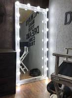 Деревянное зеркало в стиле LOFT (150 см) (Mirror - 08), фото 1