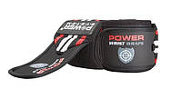 🔥✅Кистевые бинты Power System Wrist Wraps PS-3500 Red/Black