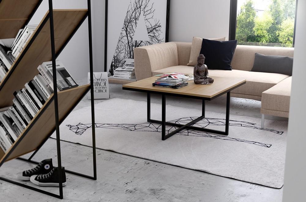 Кофейный Журнальный столик в стиле LOFT (Table - 543)