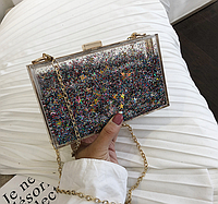 Пластиковая сумка с плавающими блесками, Женские сумки, Пластикова сумка з плаваючими блисками