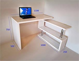 Стол компьютерный СКТ-1 (ассортимент цветов) Дуб Атлант, фото 2