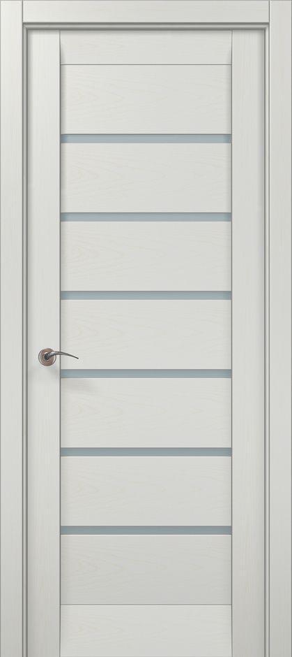 Дверное полотно 2000х910х40 Папа Карло Millenium ML-14 Ясень белый