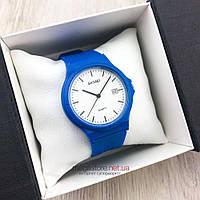 Оригинальные наручные Часы Skmei светло синие с белым циферблатом (08097)