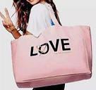 💋 Victoria's Secret Сумка Пляжная с Пайетками Love Bag, фото 2