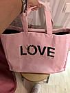 💋 Victoria's Secret Сумка Пляжная с Пайетками Love Bag, фото 3