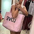 💋 Victoria's Secret Сумка Пляжная с Пайетками Love Bag, фото 7
