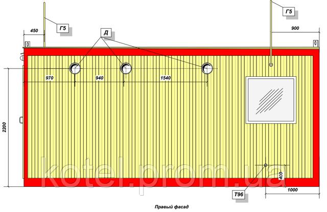 Правый фасад котельной КМ-2 300 кВт с котлами Колви КТН 1.100 СЕТ