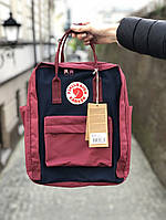 Рюкзак Fjallraven Kanken Classic (bordo), рюкзак Канкен, бордовыый портфель канкен