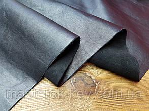Кожа натуральная обувная лицевая Шлифованная (товар) т.1,2-1,4мм цвет черный