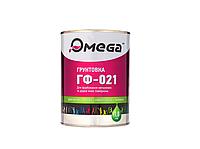 Грунт алкидный OMEGA ГФ-021 антикоррозионный, серый, 1кг
