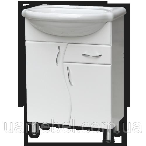 Тумба для ванной белая Т-03