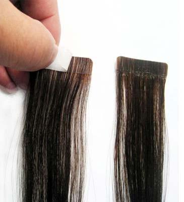 Натуральные волосы для ленточного наращивания 60 см. Оттенок №2.