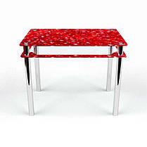 Стол кухонный стеклянный Прямоугольный с проходящей полкой Garnet 91х61 *Эко (БЦ-стол ТМ), фото 2