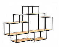 Навесная - Настенная Полка в стиле LOFT  (Wall Shelf - 17)