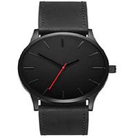 Мужские наручные часы классического черного цвета