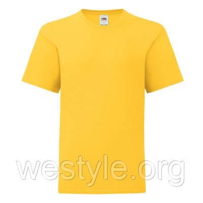 Футболка хлопковая легкая прилегающая детская - 61023-34 солнечно-желтая