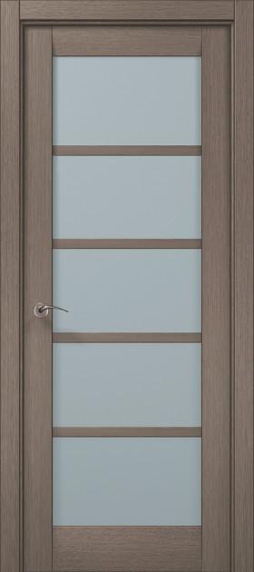 Дверное полотно 2000х610х40 Папа Карло Millenium ML-15 Дуб серый