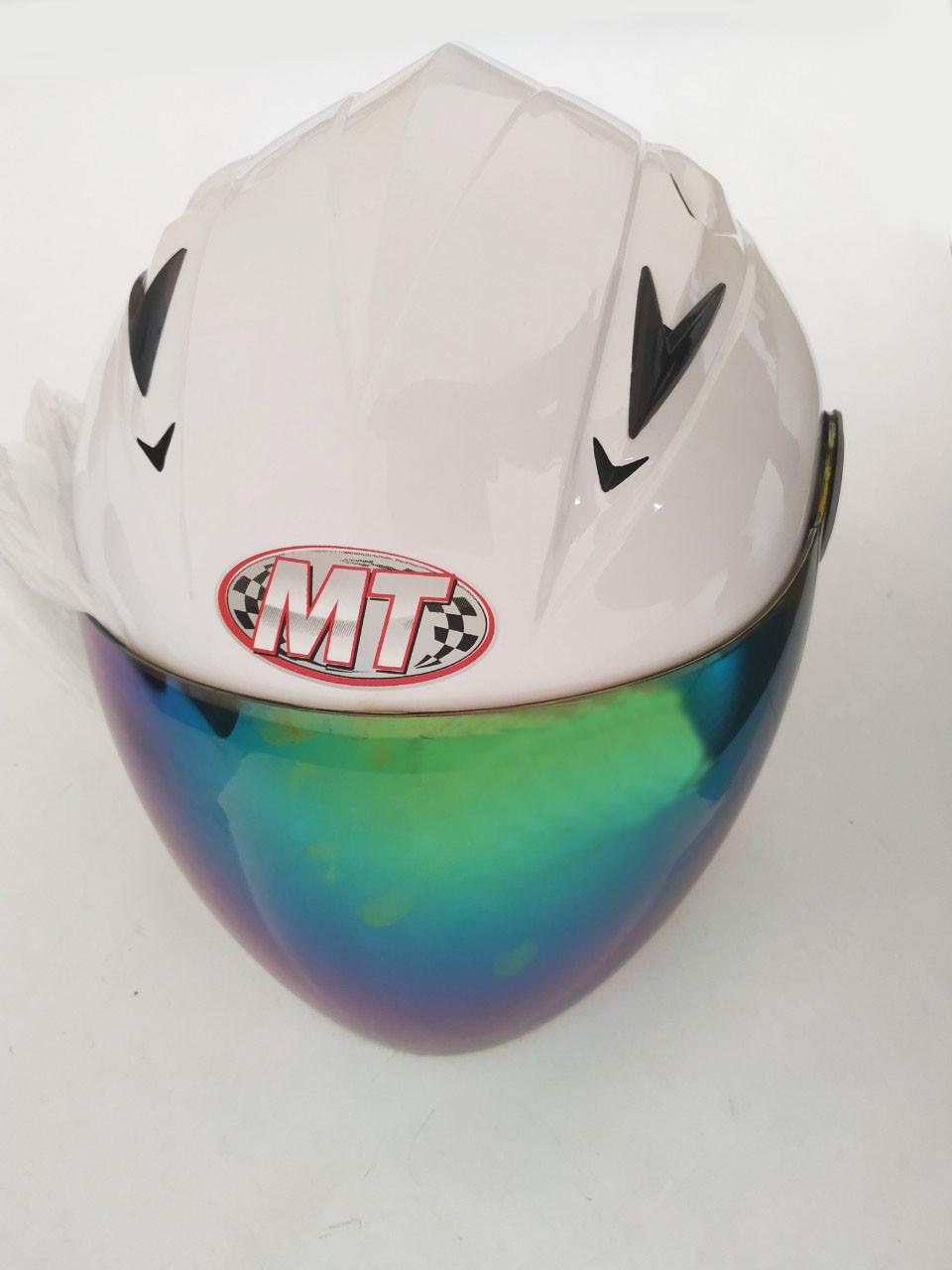 Шлем HF-210 Белый (откритый/тонированое стекло) (Размер: S) Mototech