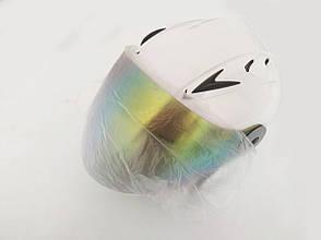 Шлем HF-210 Белый (откритый/тонированое стекло) (Размер: S) Mototech, фото 2