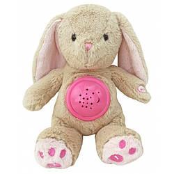Проектор музыкальный Baby Mix Кролик STK-18957 pink  (Музичний проектор Кролик з лампою)