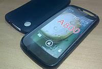 Защитный гелевый бампер накладка для Lenovo A800, черный цвет, фото 1