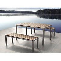 Набор Стол + 2 скамейки в стиле LOFT (Garden Table - 01)