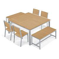Набор Стол + 2 скамейки и 4 Кресла в стиле LOFT (Garden Table - 05)