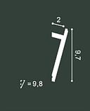 LED профили Orac Decor SX179 (200x2.9x9.7см),лепной декор из полиуретана., фото 2