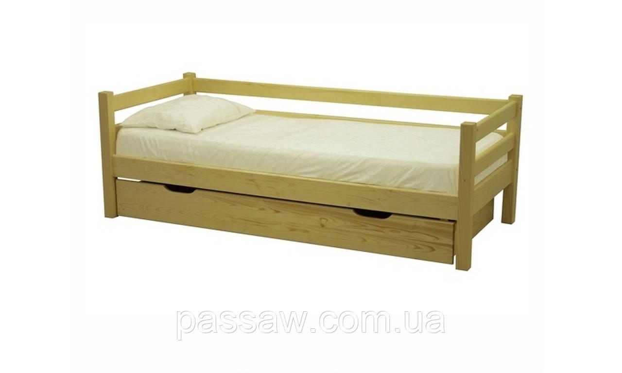 Кровать деревянная Л-117 1,0 без ящика