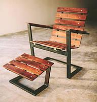 Пляжный шезлонг в стиле LOFT (Deck chair - 02)