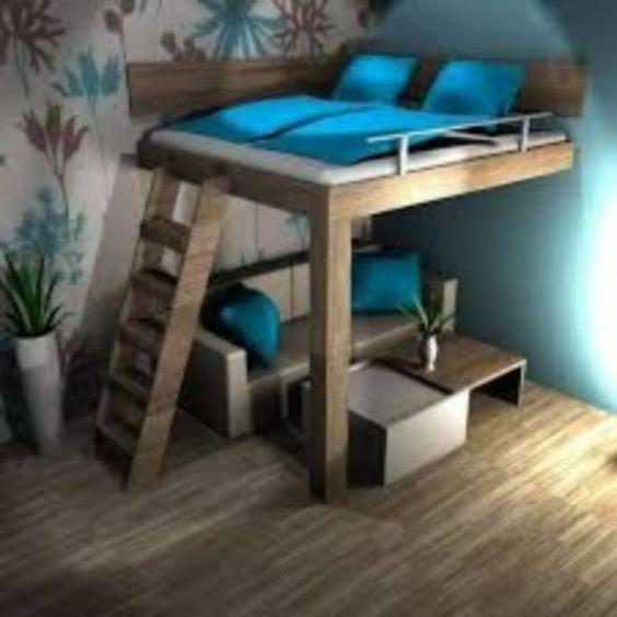 Двухьярусная кровать в стиле LOFT (Bed - 033)
