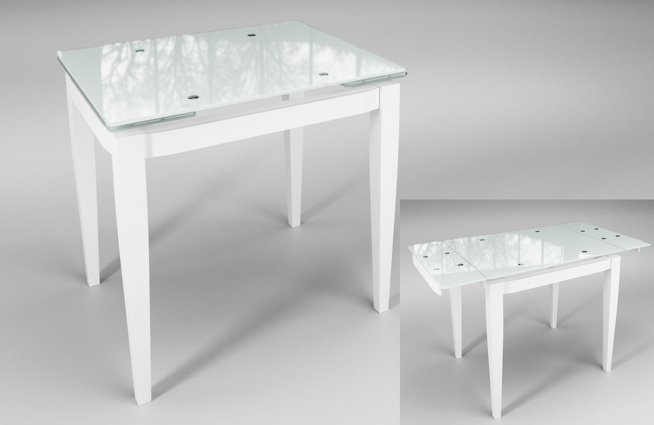 """Стол обеденный раскладной """"Тореро"""" Белый с белым"""