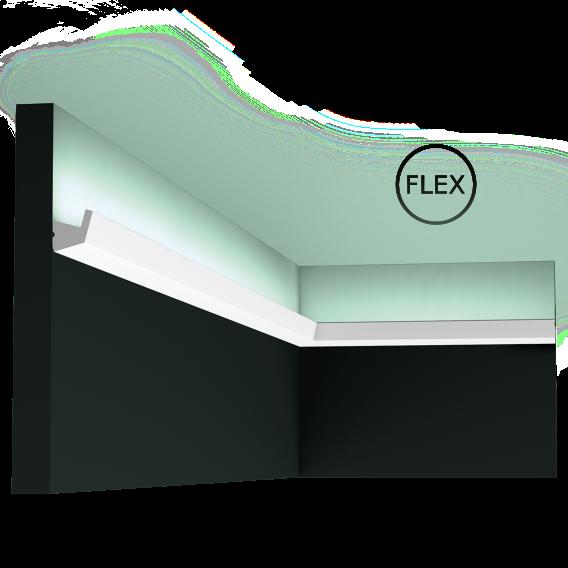 LED профили Orac Decor CX189F (200x2.7x2.7см),лепной декор из полиуретана.