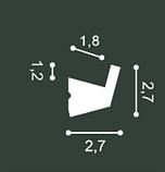 LED профили Orac Decor CX189F (200x2.7x2.7см),лепной декор из полиуретана., фото 2