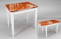 """Стол обеденный раскладной """"Тореро"""" Оранжевый с белым"""