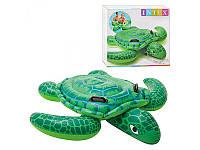Надувной плотик 57524  черепаха,150-127см