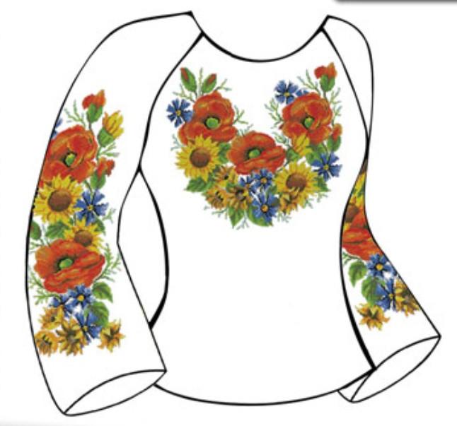 Заготовка жіночої вишиванки під бісер (БЖ-26) від