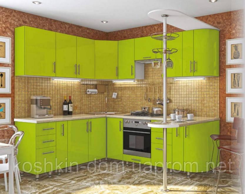 Кухня модульная  угловая 2500*1700 мм, MDF пленочный