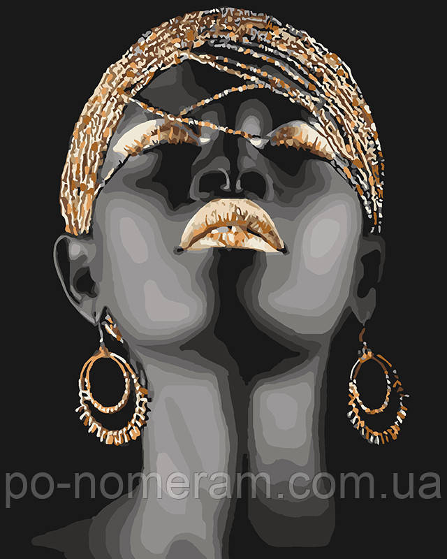Африканская принцесса Раскраска для взрослых
