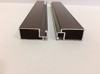 Профиль москитный внешний 10х20 Standart RAL8017 (Шоколадно-коричневый)