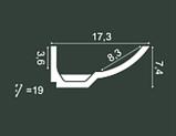LED профили Orac Decor C351 (200x7.4x17.3см),лепной декор из полиуретана., фото 2