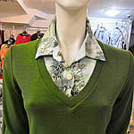 Светр сорочка теплий зелений трикотаж 221291 джемпер, фото 6