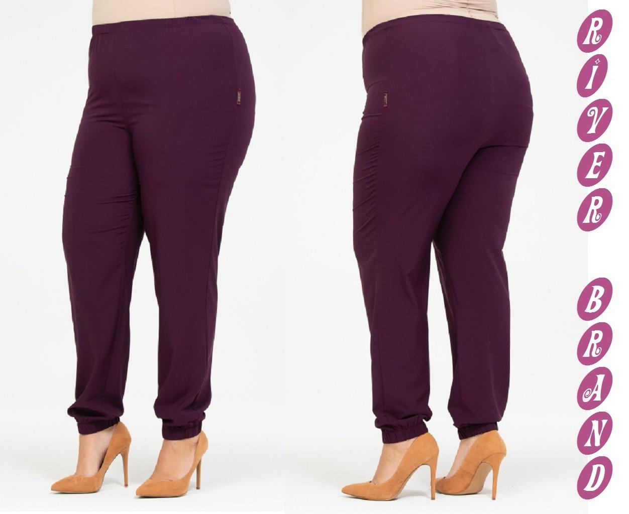 Женские модные брюки с высокой посадкой и с поясом на резинке с 48 по 82 размер