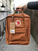 Рюкзак Fjallraven Kanken Classic (orange), рюкзак Канкен класик, оранжевый портфель канкен