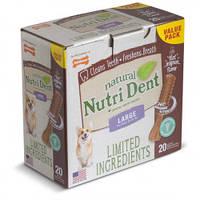 Nylabone Nutri Dent Natural НИЛАБОН НУТРИ ДЕНТ L,жевательное лакомство для чистки зубов собак до 23 кг, фото 1