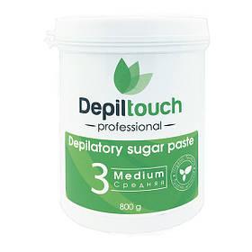 Сахарная паста для депиляции Depiltouch Professional средняя 800 г 87709, КОД: 302942